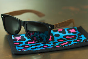 Walnut sunglasses + Leopard