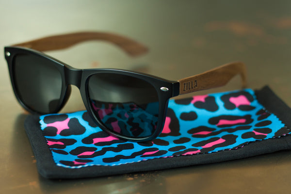Walnut sunglasses + Leopard [FRESH STOCK]