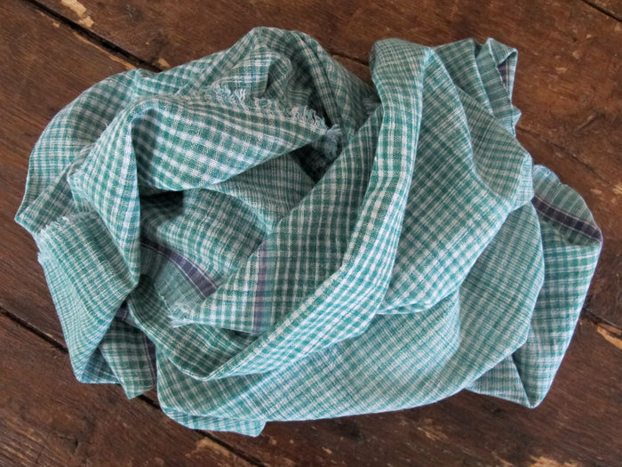 Auntie Oti Towel | Green Check