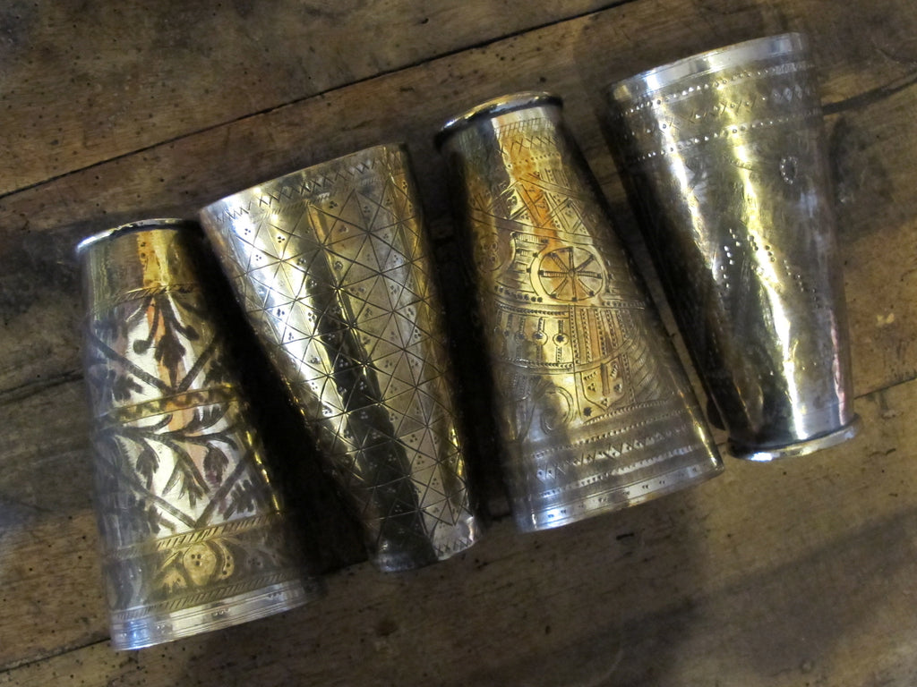 Vintage Lassi Cup | Brass and Silver