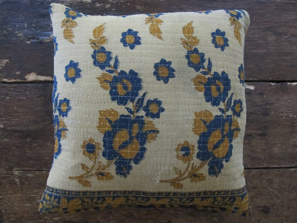 "22"" Sq Kantha Pillow 