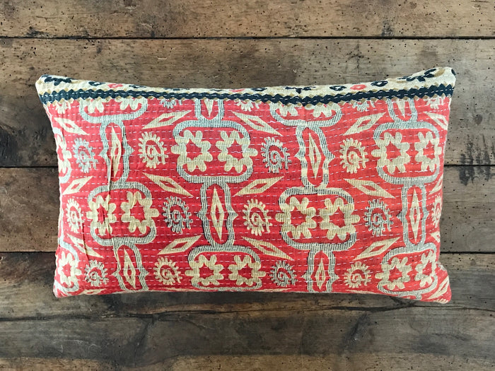 "12"" x 20"" Kantha Pillow 