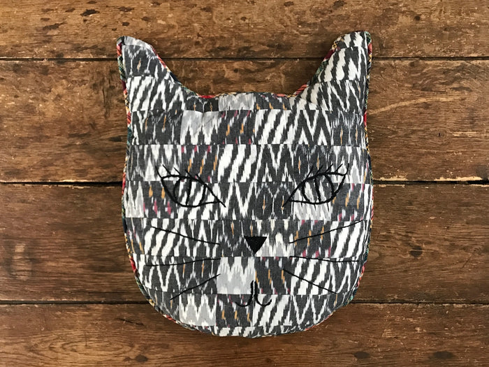 Patchwork Pillow | Kitty Face