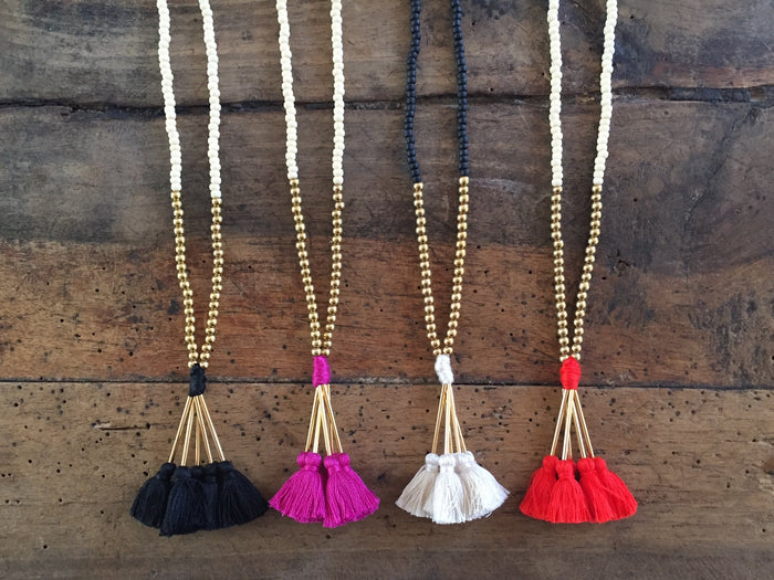 Bead Necklace | Mala Tassel