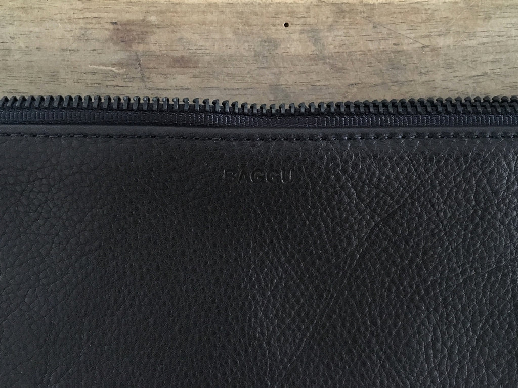 BAGGU Leather Pouch | Large Black
