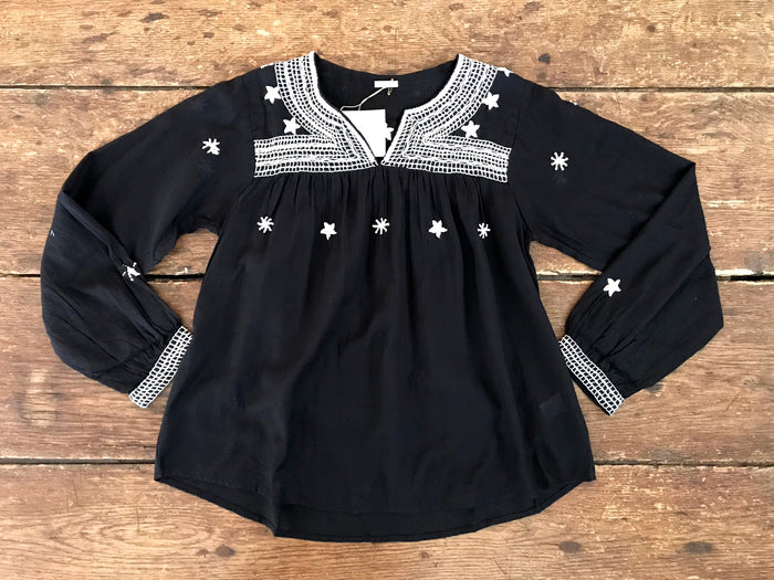 Camila Star Top | Black