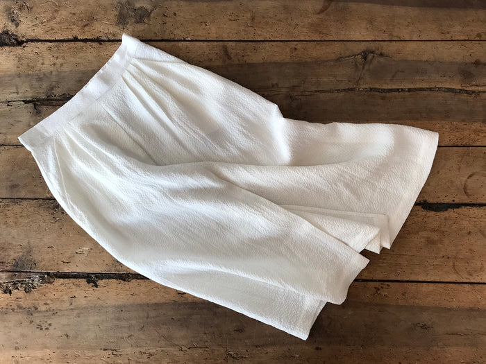 Pleated Skirt | White