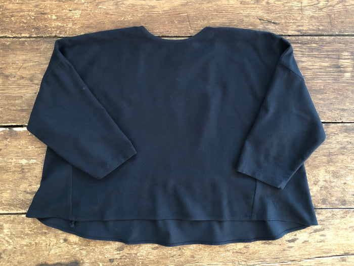 Gathered Top | Navy