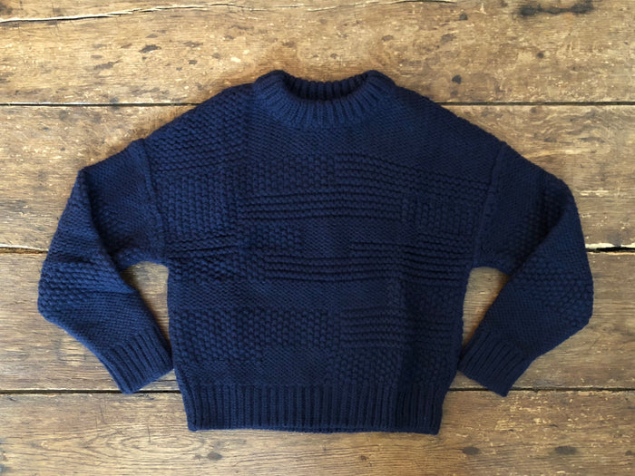 Ply Knit Pullover | Navy