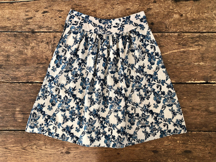 Atisha Bloom Skirt | Indigo