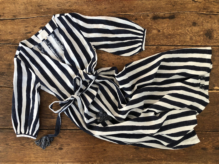 Louisa Wrap Dress | Breton Stripe