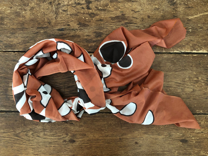 Sparrow Scarf | Terracotta