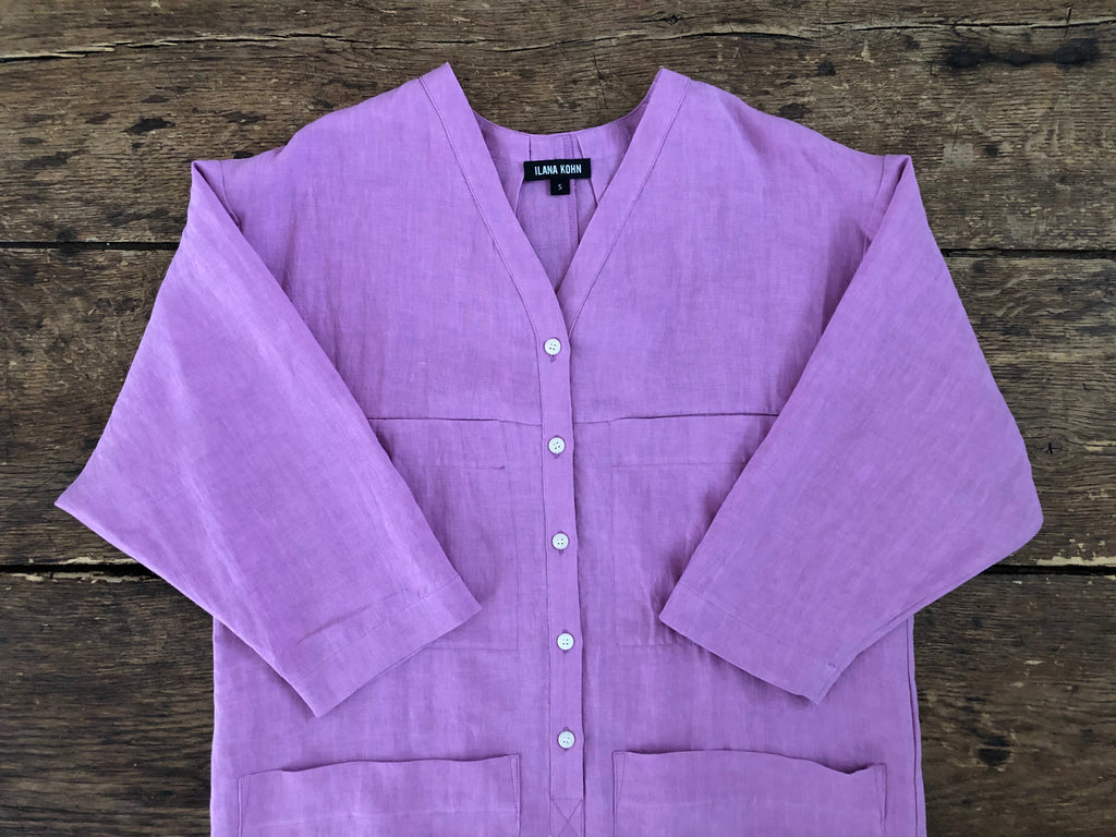 Tuck Coverall | Grape