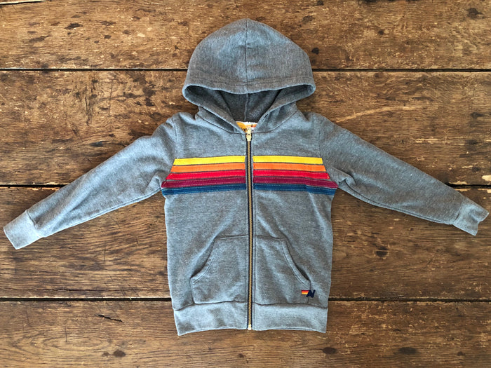 5-Stripe Hoodie | Heather Grey