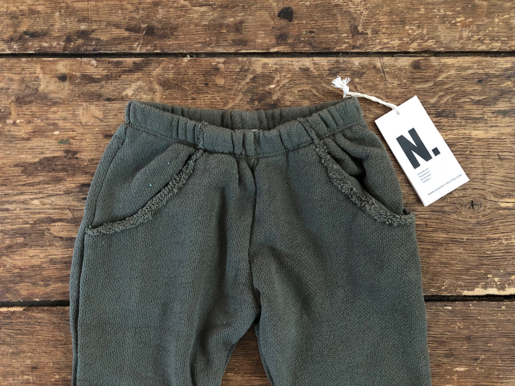 Textured Track Pant | Moss