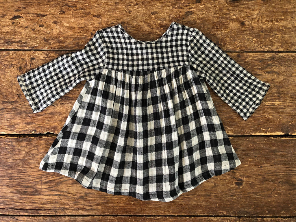 Cleo Dress | Black Check