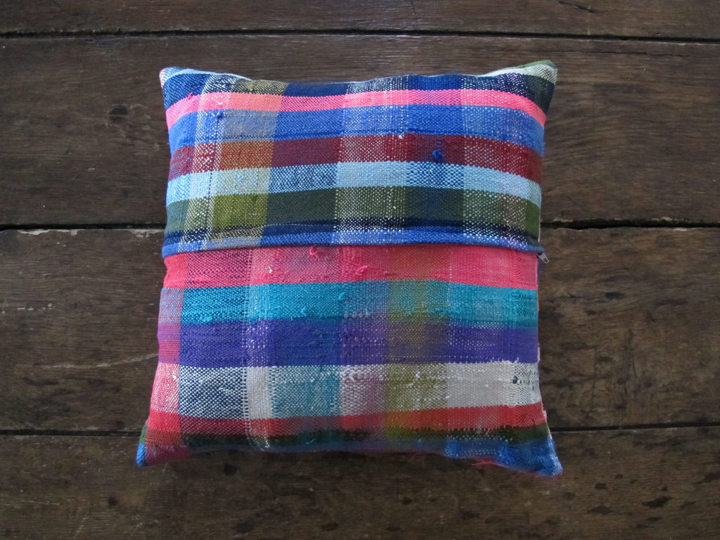 Plaid Pillow from Morocco