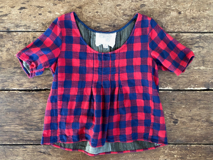 Shop Tee | Red Plaid