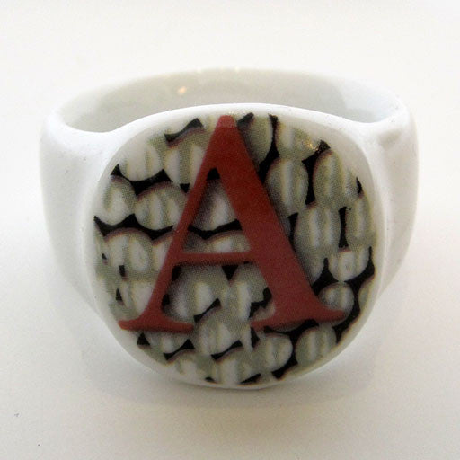 Alphabet Ceramic Napkin Rings