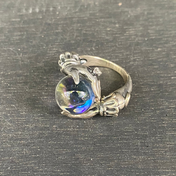 The Oracle Ring, sterling silver, size 6
