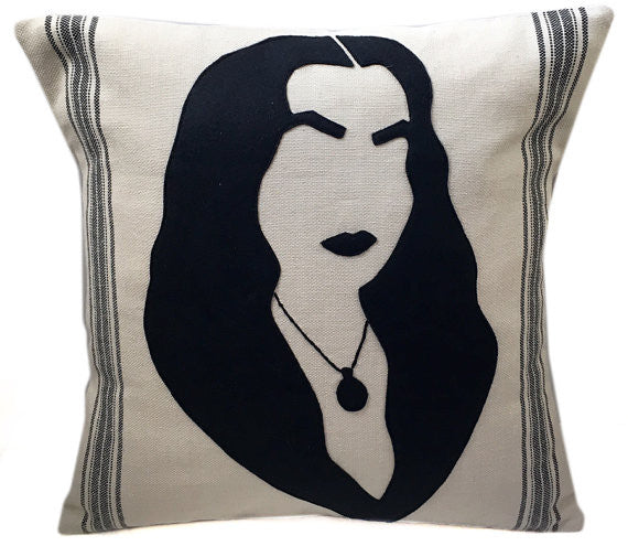 Morticia Addams Cushion