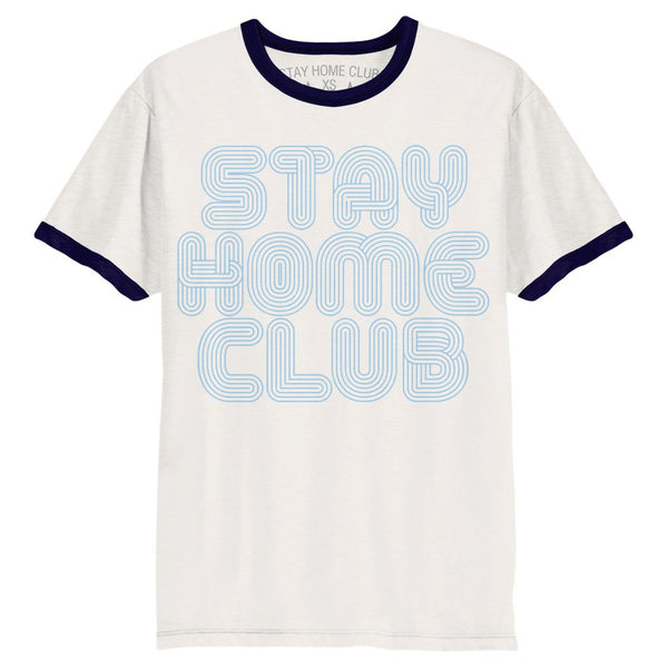 Vintage Stay Home Club Ringer Tee