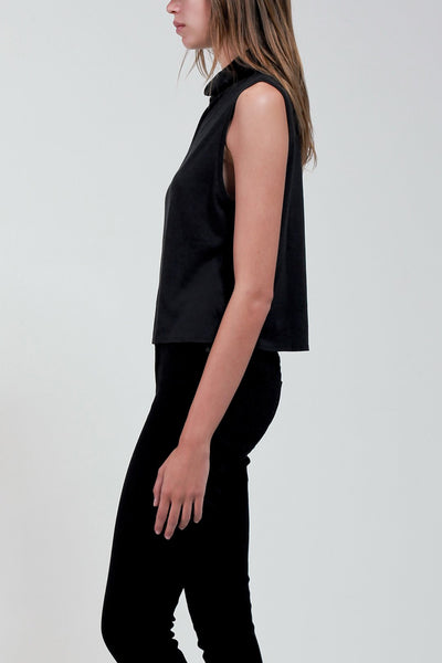 Bamboo Cotton Turtleneck Tank