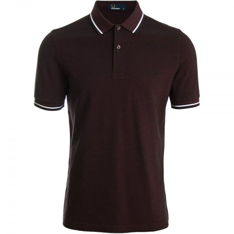Twin Tipped Shirt -  Mahogany/Black Oxford