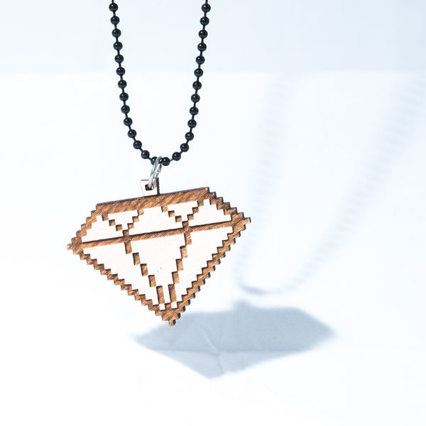 8 Bit Diamond Necklace