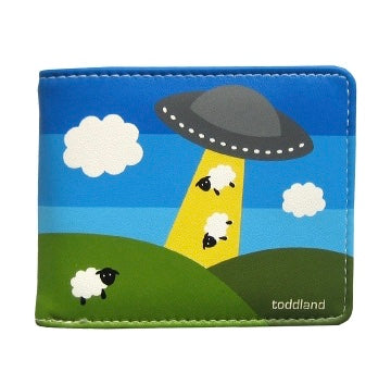 Visitors Wallet - Aliens Abducting Sheep