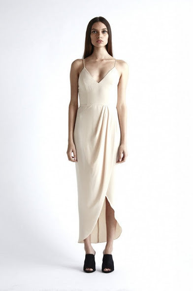 Cocktail Draped Maxi Dress