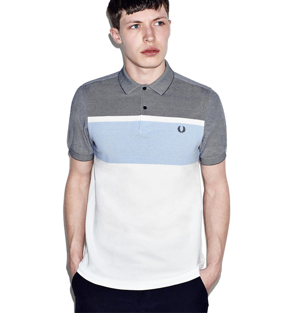 Oxford Pique Stripe Polo Shirt