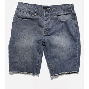 Cut Off Denim Shorts - Blue