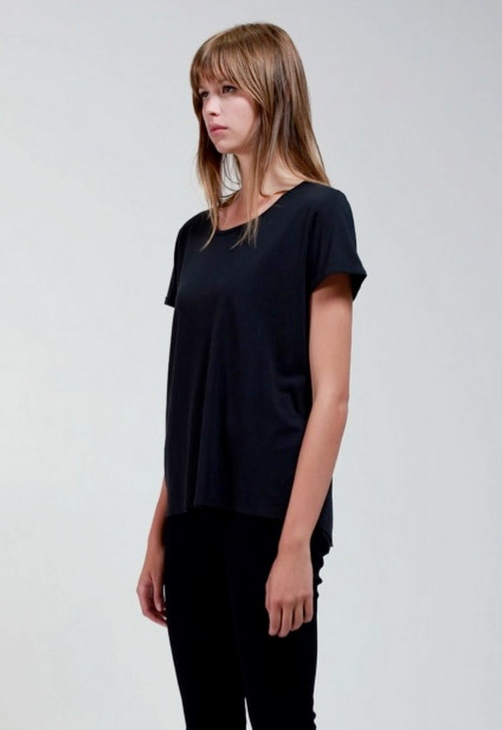 Bamboo Cotton T -  Black