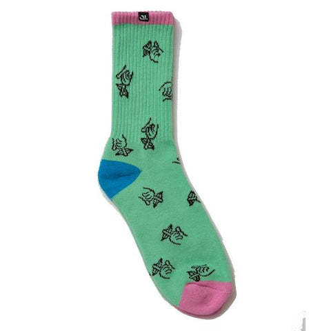 Shhh Logo Socks - Mint