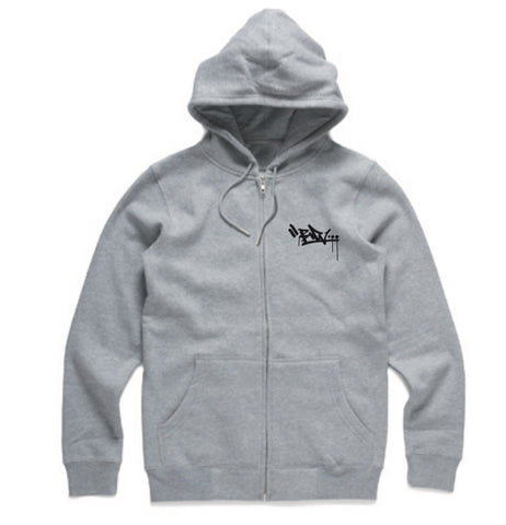 Embroidered Zip Hood