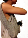 SMALL DOG GREY PET SLING CARRIER
