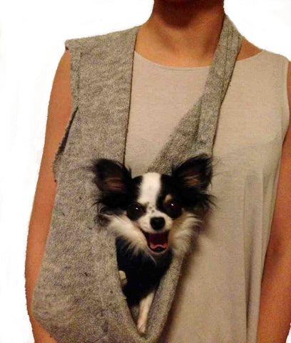 PUPPY POCKET SCARF SLING Pup Small Dog Pet Carrier Cashmere ...