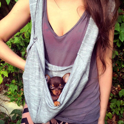 SPACIOUS POUCH Dog Carriers Scarf Sling MEDIUM PET