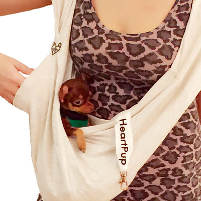 BARELY THERE thin cotton jersey teacup pet sling for WARM WEATHER