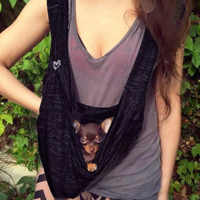Summer Cotton Knit Pet Sling Dog Carriers