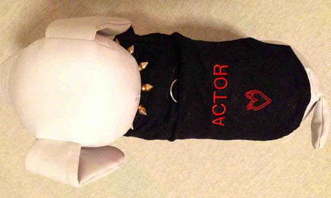 HEART PUP DOG SHIRT HARNESS ACTOR