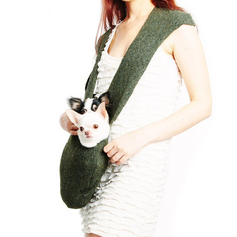 LUXURIOUS HEARTPUP GREEN PATENTED POCKET DOG CARRIER on SHARK TANK by HEART PUP