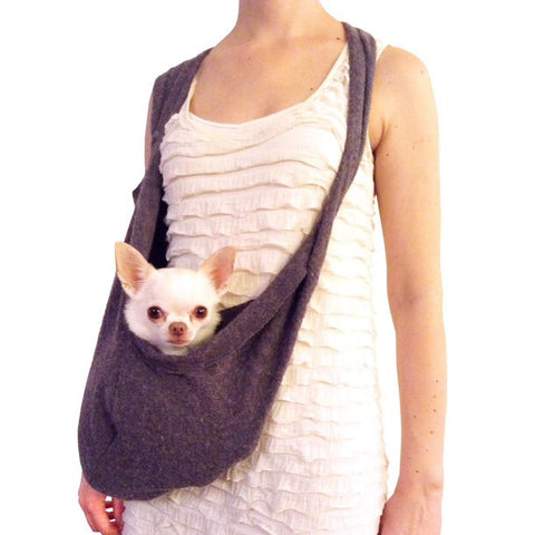 Scarf Sling Dark Gray Pocket Dog Carriers