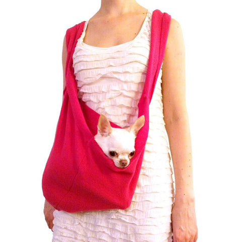 LUXURIOUS HEARTPUP PINK POCKET DOG CARRIER on SHARK TANK by HEART PUP