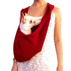 LUXURIOUS HEARTPUP RED POCKET DOG CARRIER on SHARK TANK by HEART PUP