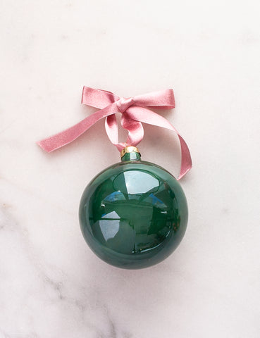 Made to Order: Bauble Ornament in Emerald Green Watercolor