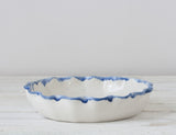 Pie For Two White with Cobalt Rim