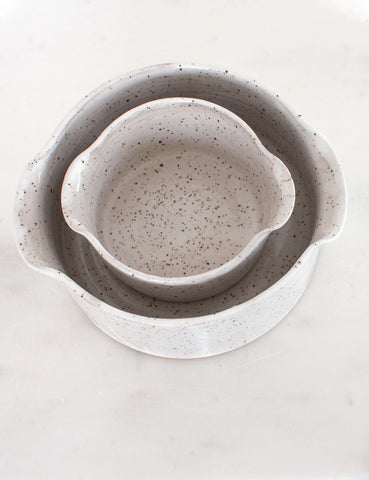 Stoneware Nesting Baker in White (set of two) #1