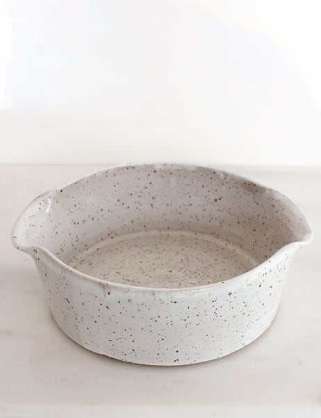 Stoneware Baker in White - Single #7